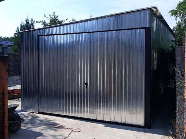 Mobilgarázs oldalra lejtő tetővel 3,5x5m 1
